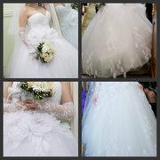 Счастливое шикарное свадебное платье Хабаровск