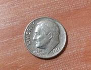 One dime liberty 1966(перевертыш)