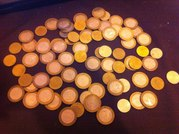 70 юбилейных 10рублёвых монет - все разные