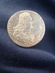 Продам ценную монету ПОЛТИНА 1727 СПБ